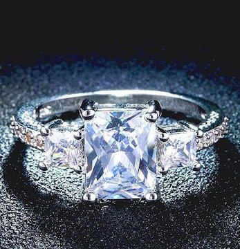 特A品 新品1円〜★送料無料★14号 煌き13石ダイヤモンド シルバーリング