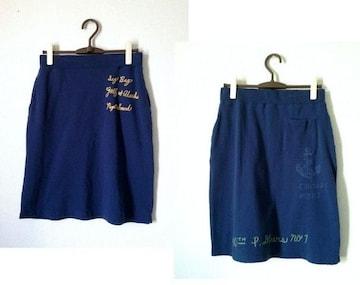 POLPO ヴィンテージ■ スウェット マリンプリント 台形 スカート