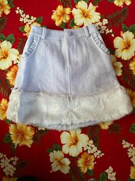 LIZ LISA☆ライトパープル☆ファースカート☆後ろWリボン☆