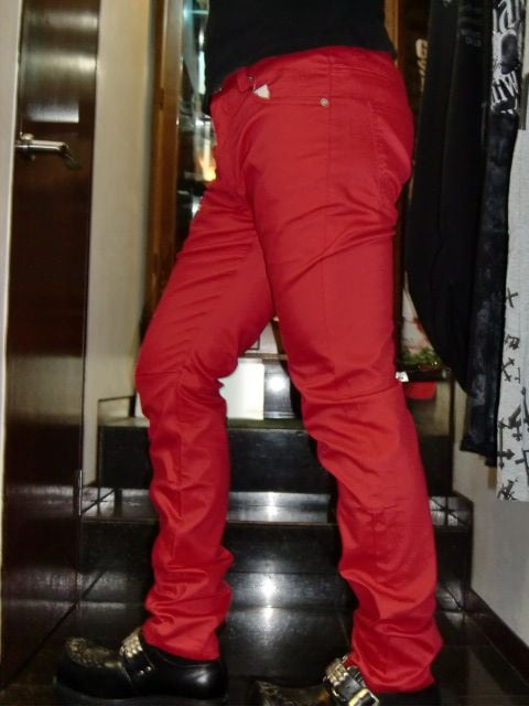 送料無料☆GENNARO☆ストレッチレッドチノパン☆M < 男性ファッションの