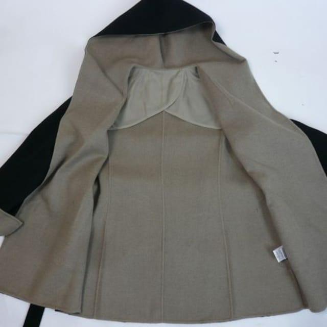 【新品★M】ハンドメイドのフード付ガウンコート < 女性ファッションの