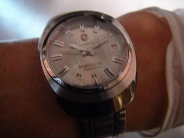 ラドー腕時計メンズマンチェスター自動巻き7面カットガラス!。