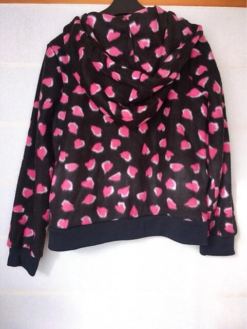 φGS Primary フリース 夜桜風プリント パーカー M N2m < 女性ファッションの