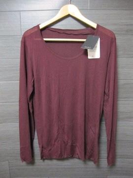 □ZARA/ザラ シルク 長袖 Tシャツ/メンズ・S/パープル☆新品