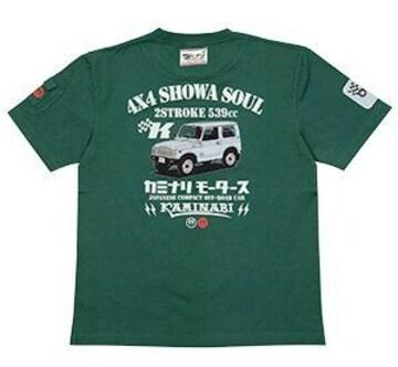 カミナリ雷/ジムニー/Tシャツ/グリーン/Kmt-184/エフ商会/テッドマン/カミナリモータース