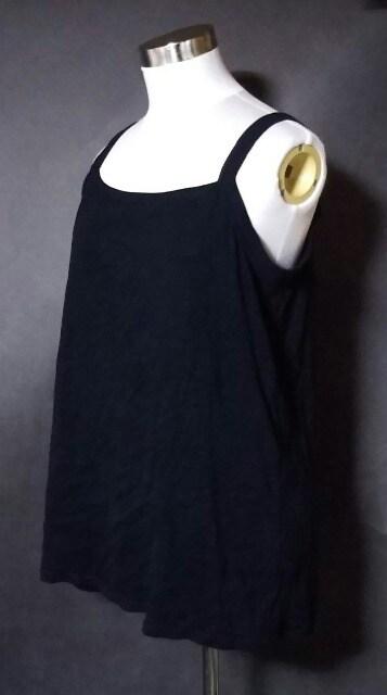ブラックキャミソール5L大きいサイズ < 女性ファッションの