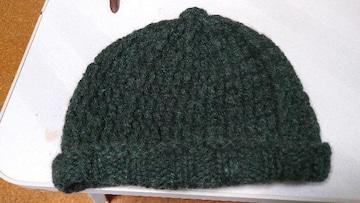 濃い緑ドームがた帽子S〜M