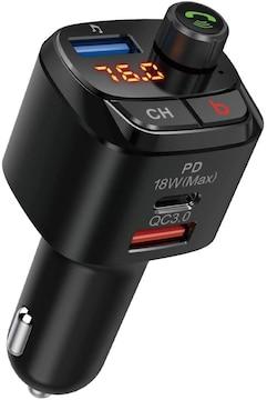 FMトランスミッター Bluetooth 5.0 Bassモード 高音質