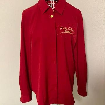 赤★シンプル★シャツ★金ボタン★サイズ9号