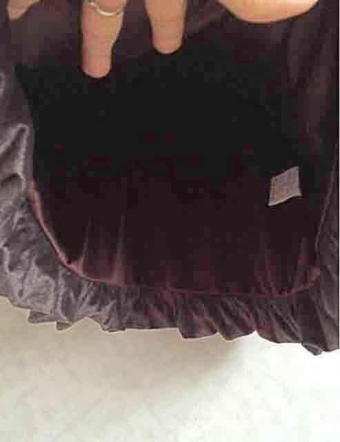ベルベットバルーンワンピース < 女性ファッションの