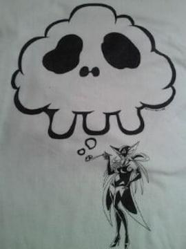 ヤッターマン ドロンジョ ドクロ シンプル デザイン Tシャツ ホワイト Mサイズ
