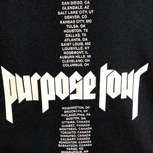 JUSTIN BIEBER 2016 オフィシャル purpose tour Tシャツ < 男性ファッションの