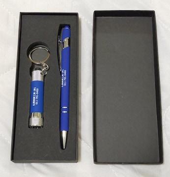 新品 ボールペン LEDミニライト LR44電池3個付き 化粧箱