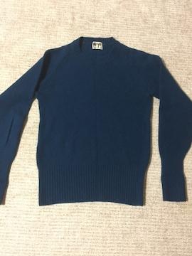 498.レナウン☆長袖ニットトップス☆ブルーグリーン☆サイズM