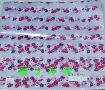 ニナリッチ NINA RICCI ハンカチ フラワー 花柄 新品 未使用