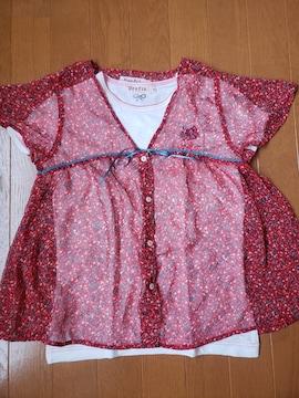 ☆新品☆ティンカーベル グラフィア☆チュニックと半袖カットソーTシャツのセット☆150
