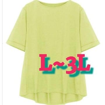 L~3L/¥4290新品☆ベーシッククルーネックTシャツ72