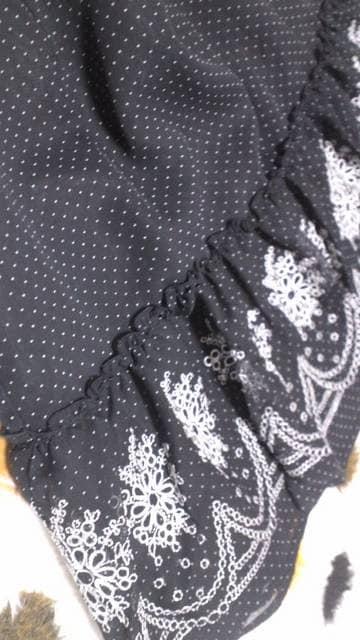 ∴∵ドットシフォンに刺繍レース∵∴W73 < 女性ファッションの