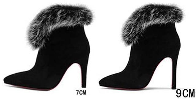 TK520即決 新品 ファー ブーツ 黒 25.5 エスペランサ ダイアナ R&E 好きに < 女性ファッションの