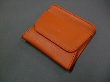 【即決 激安】パカッと開いて便利^^ 本革 616 新品 オレンジ