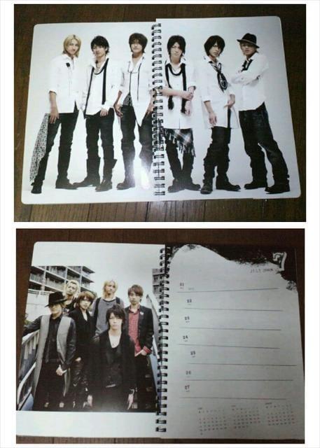 【新品同様】KAT-TUN☆カレンダー☆2008.4ー2009.3 < タレントグッズの