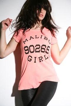 WILD FOX☆MALIBU GIRLオレンジTシャツ
