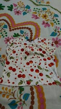 キッズ☆PINK HOUSE/ピンクハウス☆チェリー柄 パフ袖 Tシャツ75〜85�a