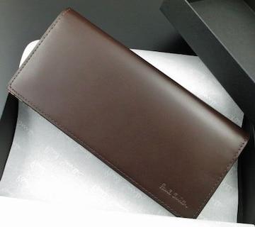 残り僅か★新品/箱付 ポールスミス 人気マルチ 長財布 濃茶