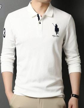 正規■POLO ポロ ラルフローレン メンズ 長袖ポロシャツXL
