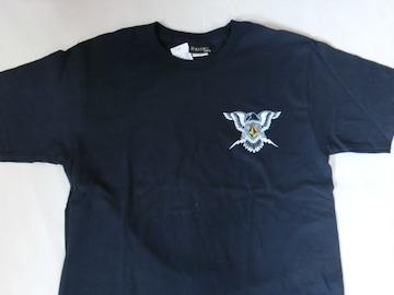USA購入 【Volcom】胸ワンポイントプリントTシャツUS S ネイビー