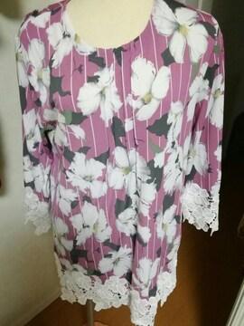 花柄ワンピースMーL