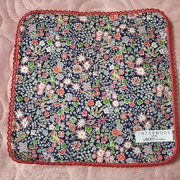 リバティ LIBERTY★ピンクの可愛いお花柄タオルハンカチ
