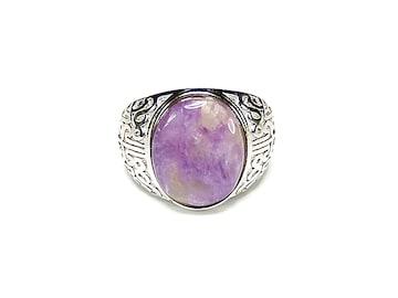 チャロアイト指輪リングAAAA天然石一点物23号石街U0241