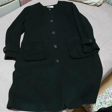 ehka sopoSM2黒色丸首コート