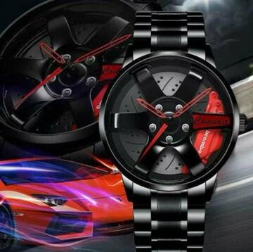 COMUDIR メンズ 腕時計スーパーカー ホイール スポーツウォッチ