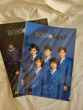 BOSS×SMAP クリアファイル2枚(非売品)