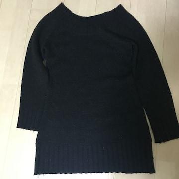 Mサイズ/黒 ニットミニワンピ