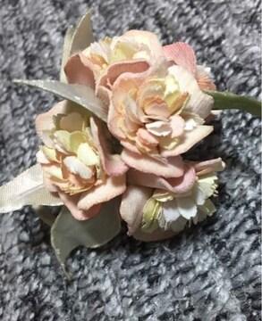 お花のコサージュ アートフラワー パステル系