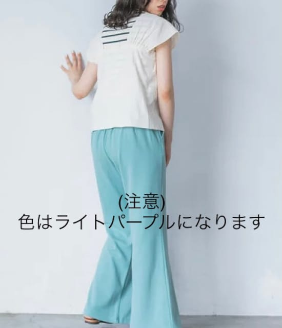 E hyphen world gallery ギャザービスチェブラウス ライトピンク < 女性ファッションの