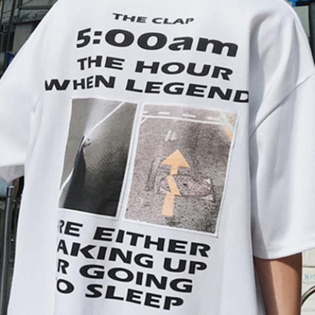【 ホワイト・XL 】バックプリント Tシャツ メンズ < 男性ファッションの