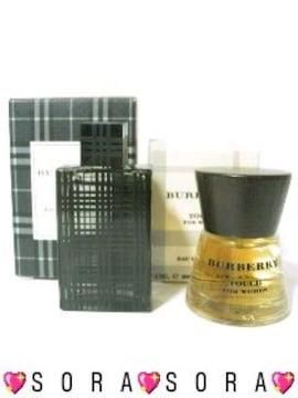 ♂♀ペア香水【バーバリー】ブリットフォーメン+タッチフォーウーマン2点セット