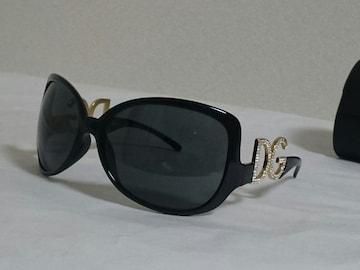 正規激レア ドルチェ&ガッバーナ DGロゴサングラス  ブラック×ゴールド×ライトストーン