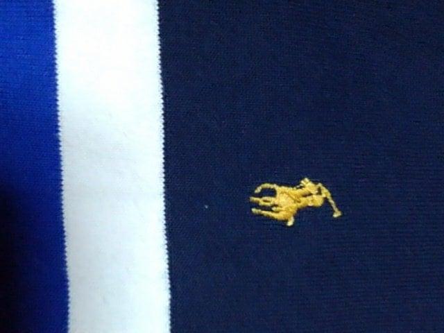 ラルフローレン ポロシャツL 紺系 < ブランドの