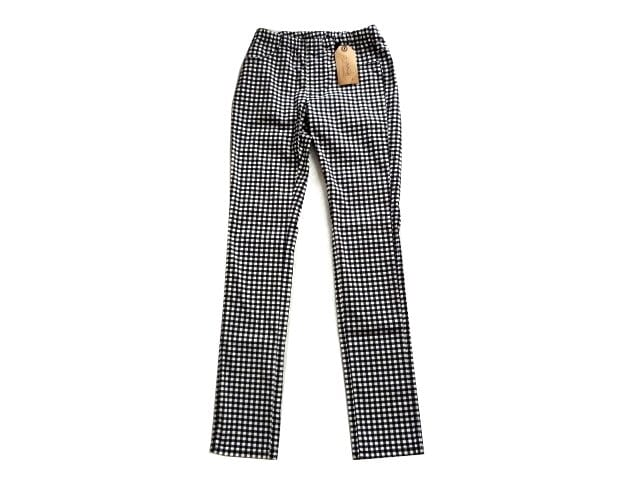 新品 zootie 黒 ギンガム チェック スキニー パンツ ストレッチ  < 女性ファッションの