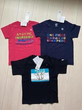ユニクロ クルーネックt キッズ 110 半袖 tシャツ トップス  マーベル ワンピース