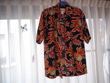 PINEAPPLE JUICEのアロハシャツ(L)!。
