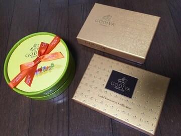 ゴディバ GODIVA トリュフ 空き箱 空き容器ゴールドコレクション