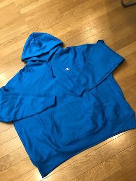 Champion プルオーバーリバースウィーブ 肉厚 超大きい(3XL)青