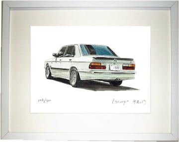 GC-1313 BMW M535i E28限定版画サイン額装作家平右ヱ門