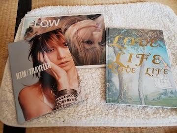 hitomi パンフレット「TRAVELER」「LOVE LIFE」「FLOW」3冊